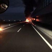 【火事情報】圏央道 茅ヶ崎JCT〜寒川北IC間でトラックが爆発炎上 車両火災 通行止め