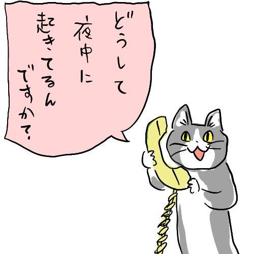こんな時間に電話鳴っててワロタ