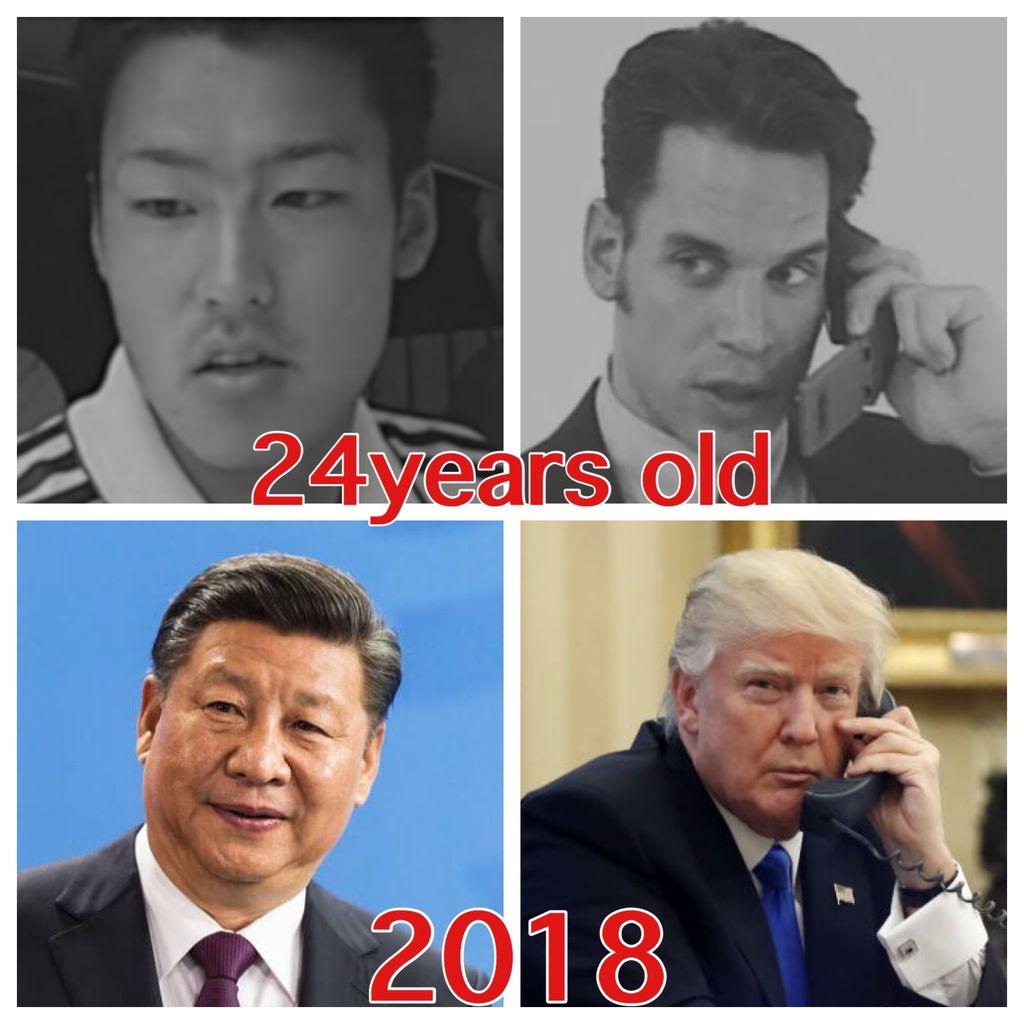 4chanで若き日のトランプ大統領と習近平の比較が話題にwww