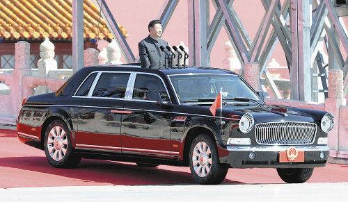 習氏閲兵の車は「紅旗」…全長6m級の最高級車