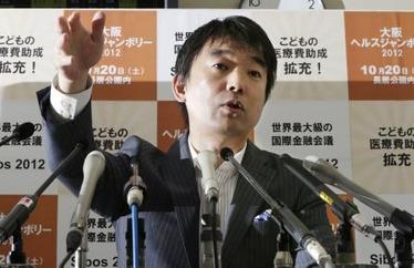 橋下代表が朝日新聞の取材拒否へ