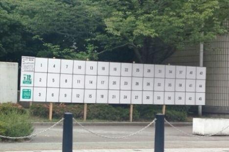 厚木市議会議員選挙掲示板