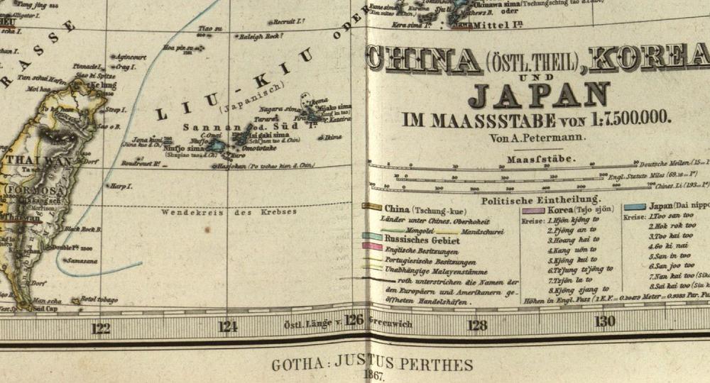 1867StielerHandAtlas_ChinaKoreaJapan_Greifsward藏