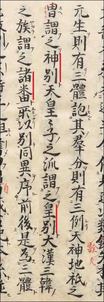 新撰姓氏録序赤押小路寫本内閣文庫3-186