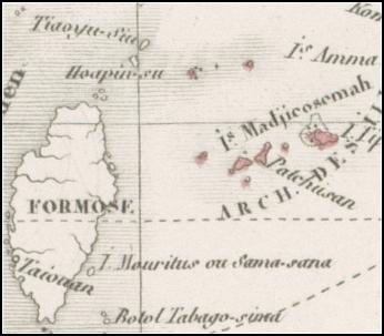Levasseur1876尖閣_Carte_Particuliere_Polynesie_豪洲藏T257