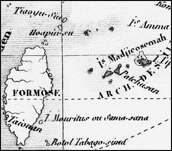 Levasseur1876尖閣白黒_Carte_Particuliere_Polynesie_豪洲藏T257