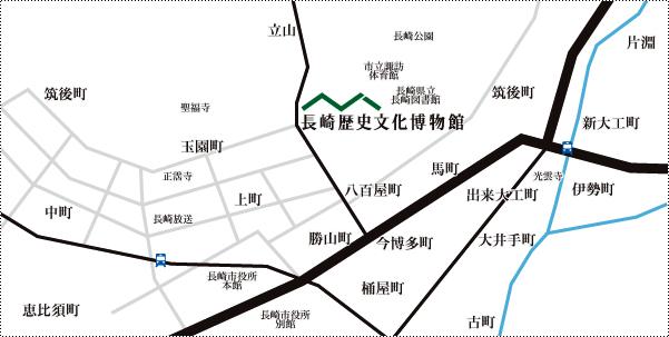 長崎歴史文化博物館地圖
