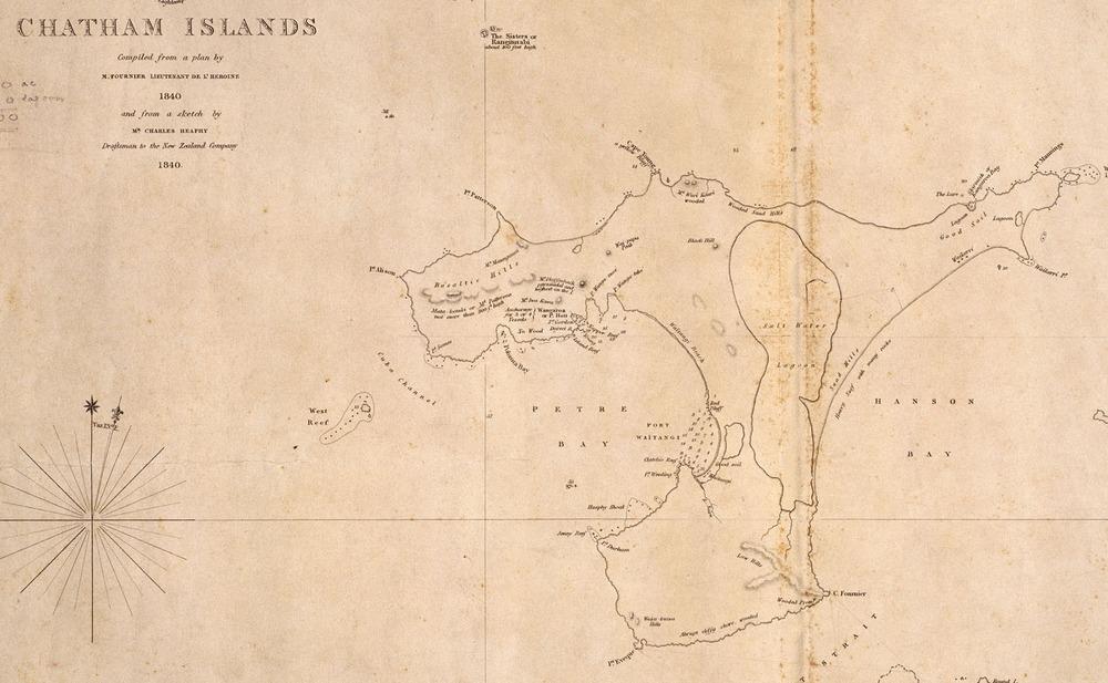 切1842刊Chatham_Islands_compiled_from_plan_by_Fournier1840