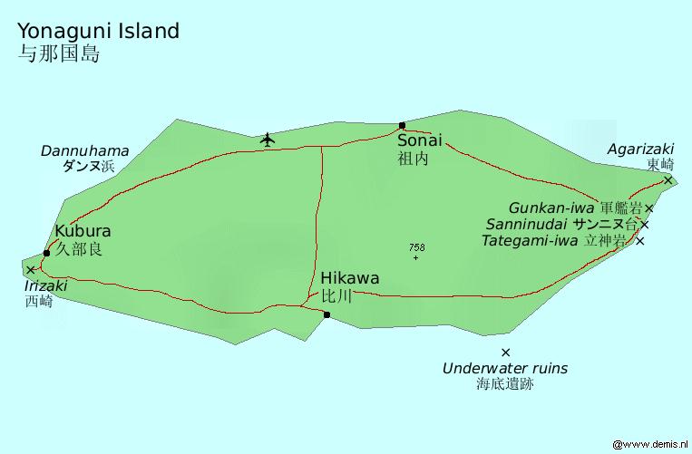 與那國島圖