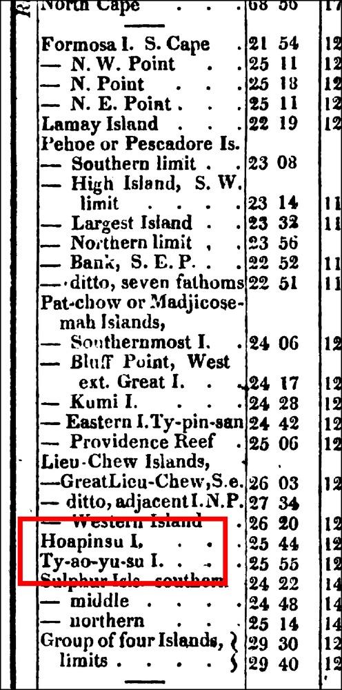 圖84_1821_Bouwditch_New_American_Practical_Navigator尖閣