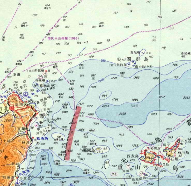 為什麼釣魚臺是日本的1969測繪總局