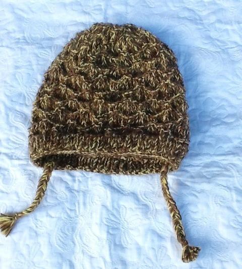 キハダ色が可愛いアルパカ100%帽子