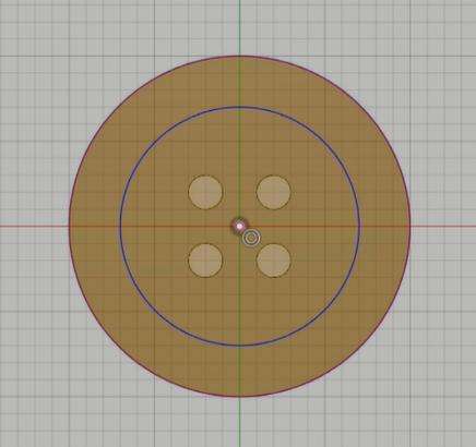 7_ボタンの上面に円をスケッチ0130