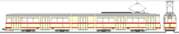 """デュッセルドルフ市電2151号電車""""Queen Mary"""""""