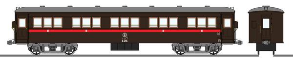 加越鉄道ナハフ101形客車