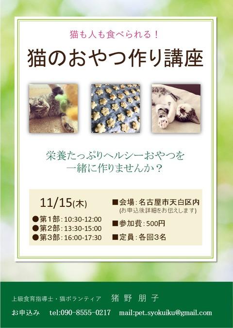 猫のおやつ作り教室チラシ20181115 - コピー - コピー