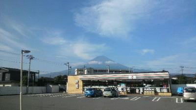 研修会バス帰り富士山