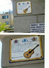 Fabrizio De Andre'の生家にある碑