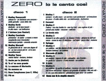 Renato Zero - Io le canto cosi`2