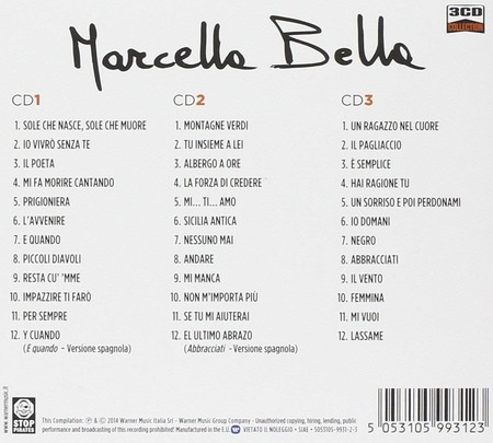 Marcella Bella - 3CD Collection(2014)-rovescio