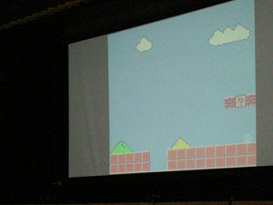 情報処理部 舞台発表「棒人間でマリオ」
