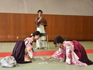 040_西高祭_競技カルタ同好会 展示「ちはやふる」