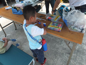 科学同好会-展示-作品展示-子ども工作教室-竹とんぼ作り