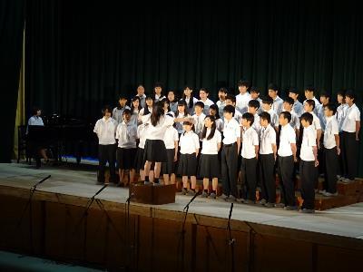 1-7 自由曲「サザンカ」1年合唱コンクール 3位