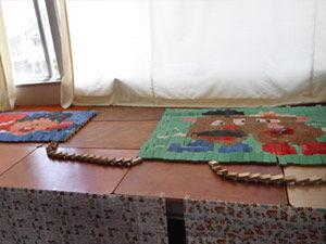 022_西高祭_3-7 展示「ドミノでアート」