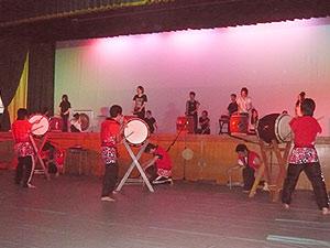 地歴科「和太鼓・篠笛演奏」