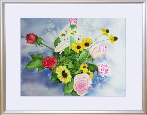 松本直次 2019-09「生け花を上から見る」