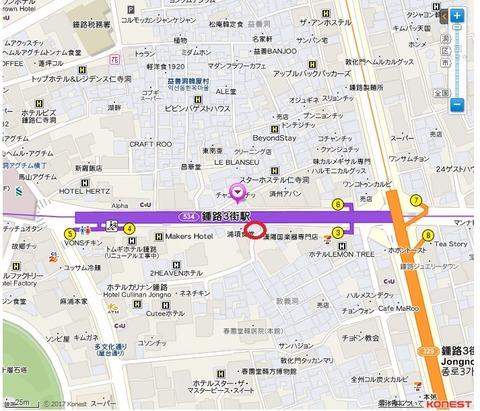 ミガク 地図
