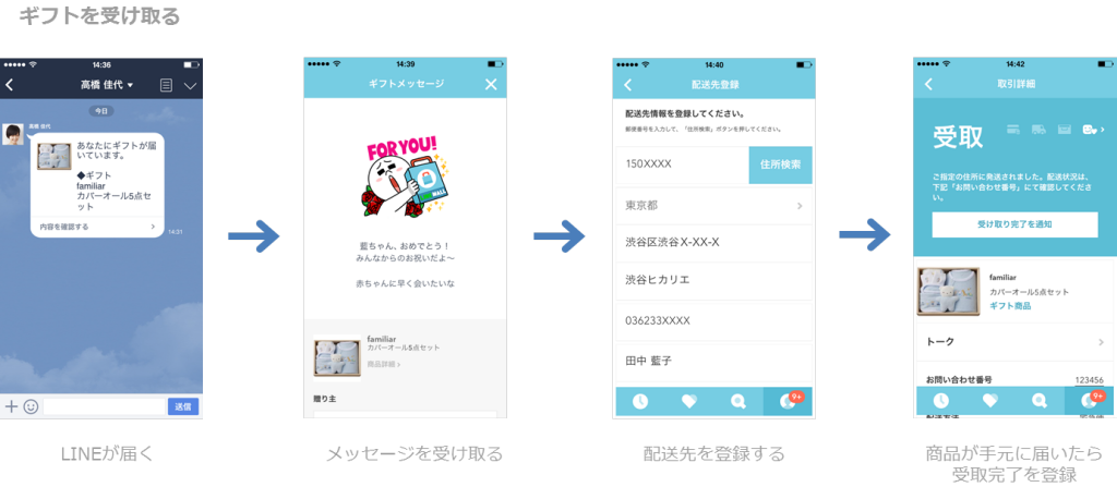 LINEギフト_受け取る