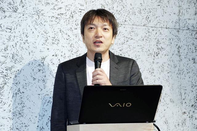 """aibo""用ソフトウェアAPIについて説明するソニー平統括部長"
