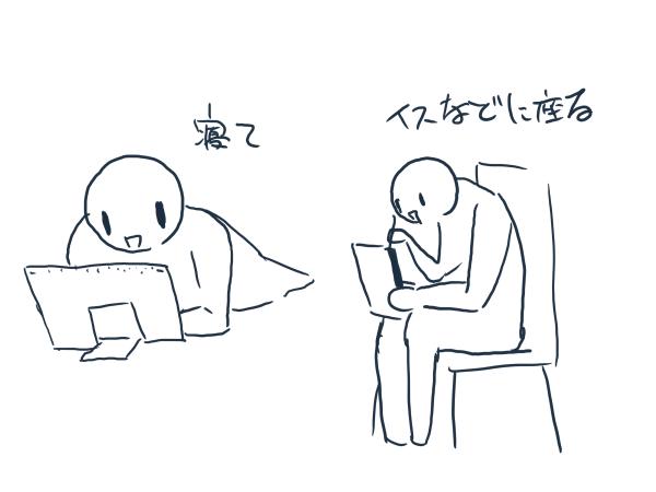 VAIOを使っているとき、筆者が実際にとった姿勢
