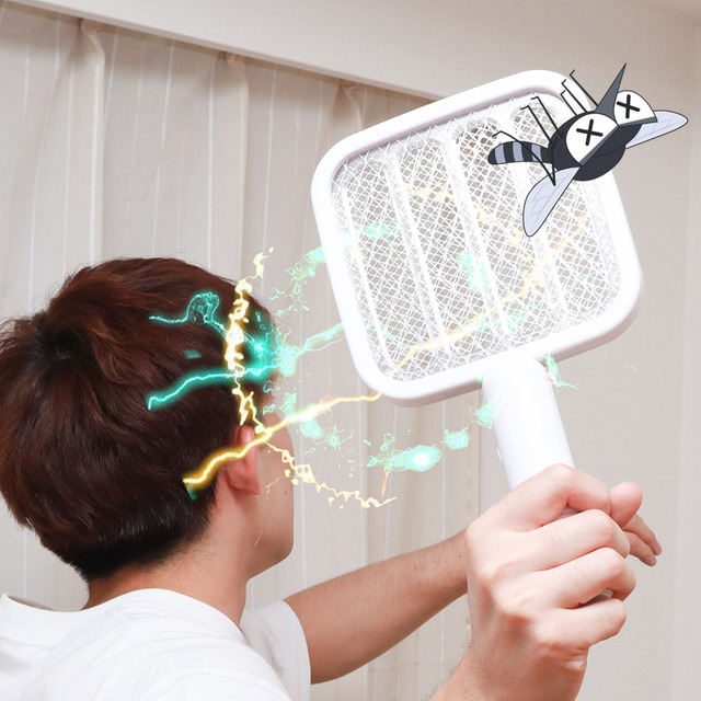 "Photo of You can exterminate the unpleasant insects that increase from now on even if you shake it and you can exterminate it with Sanko's electric shock racket & mob lamp ""2 in 1 pest buster"""