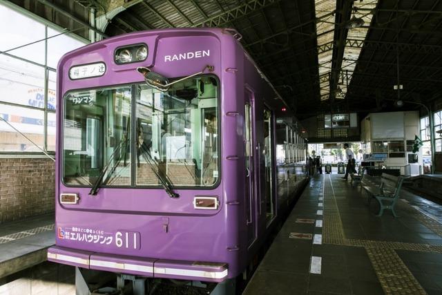 こちらは通常車両だが、オリジナルヘッドマークの電車もあるとのこと