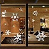 (リッチェ) Ricce キレイに剥がせる 雪の結晶 ウォールステッカー クリスマス 壁紙 シール インテリアステッカー パーティー グッズ 装飾 デコレーション 飾り付け ディスプレイ 店舗 (ホワイト 白色)