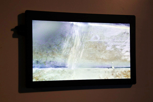 Ginza Sony Parkの地下に湧き出る水の様子
