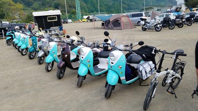 志摩リンバイクが勢ぞろい(志摩リン誕生日会キャンプ)