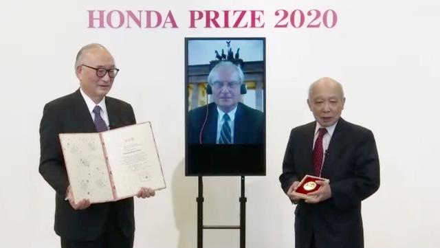 H.カガーマン博士の本田賞 授与式の様子