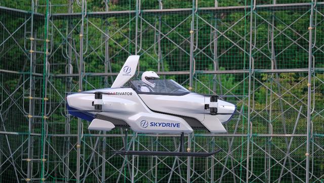 SkyDrive社開発の「空飛ぶクルマ」