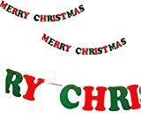 全6種バリエーション クリスマス 飾り フェルト MERRY CHRISTMAS/三角フラッグ/くつ下/クリスマスツリー/ツリーデザインフラッグ/トナカイ ガーランド felt (英字 MERRY CHRISTMAS)