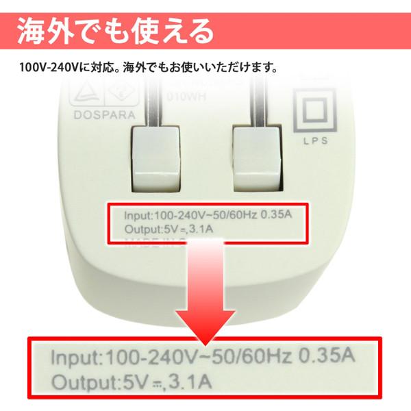 100V~240V対応のユニバーサル仕様になっている。