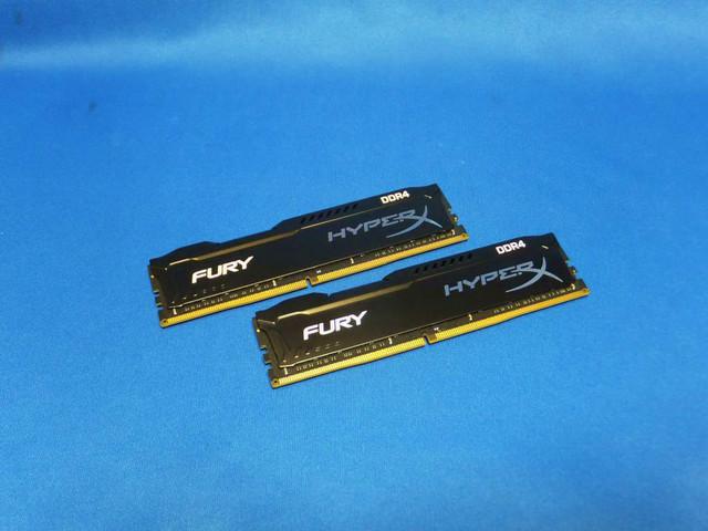 「FURY Memory Black - 16GB Kit(2×8GB) -DDR4 2666MHz CL15 DIMM」