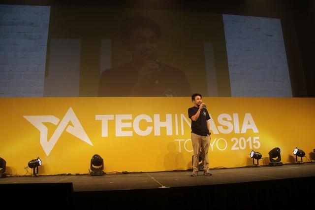 「Tech In Asia Tokyo 2015」のメインステージ