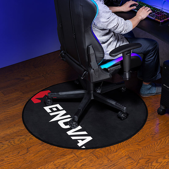 """Photo of Gaming chair mat """"100-MAT018"""" with excellent sense of unity with gaming chair from Sanwa Supply"""