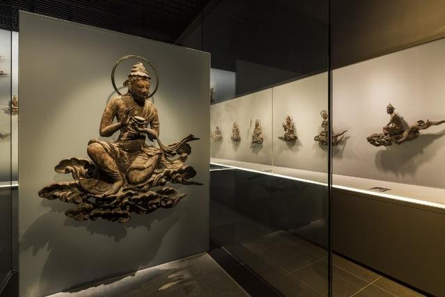 「平等院ミュージアム鳳翔館」に展示されている雲中供養菩薩像