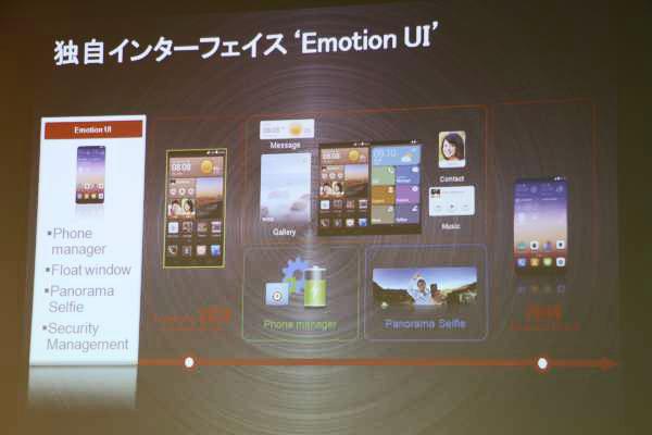 ファーウェイ独自のユーザーインターフェイス「Emotion UI」