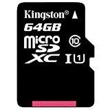 【Amazon.co.jp限定】Kingston キングストン MicroSD 64GB Class10 UHS-I SDC10G2/64GB-AMJ